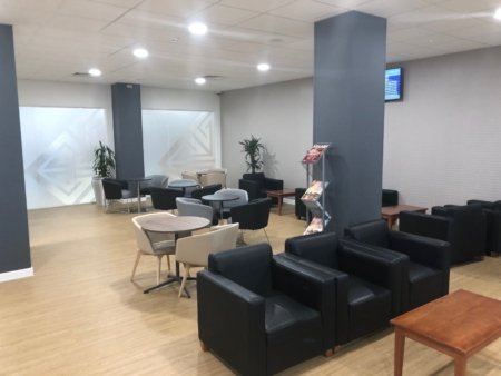 Lolfa Foethus lounge at cardiff airport