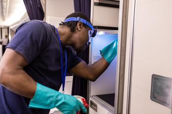 British Airways cleaning
