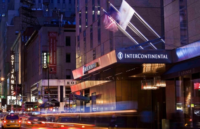 Using IHG points in the hotel