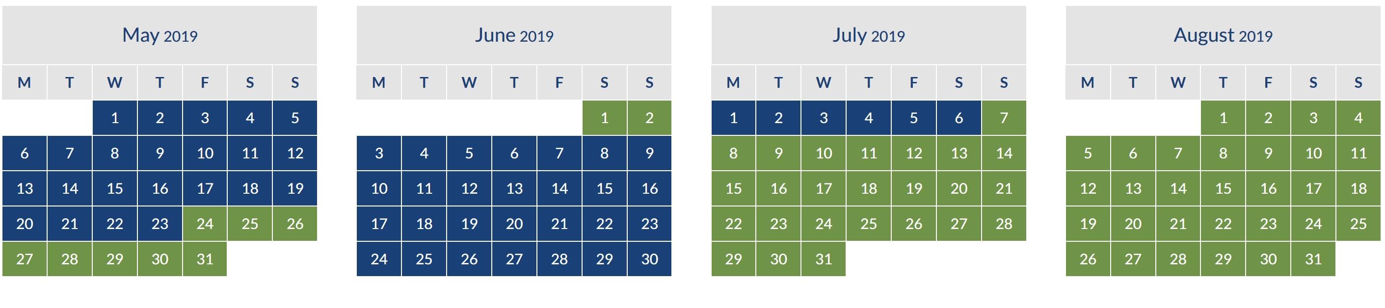 ba avios off peak calendar 2019