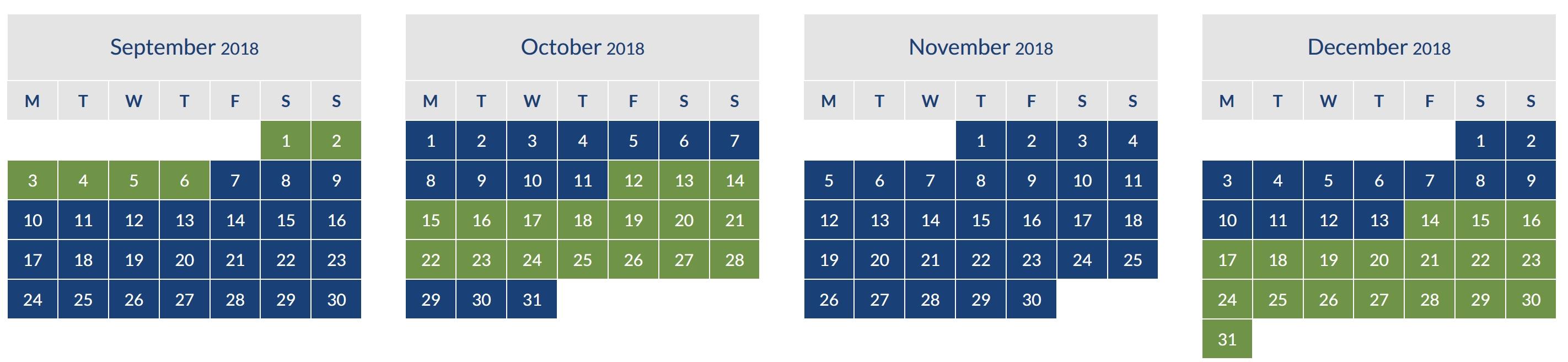 BA September to December 2018