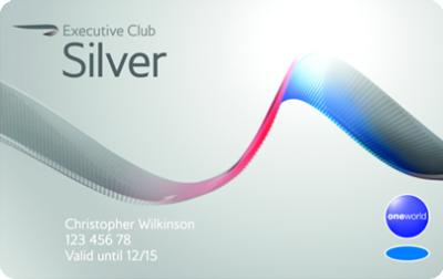Silver cardholder luggage allowance British Airways Executive Club
