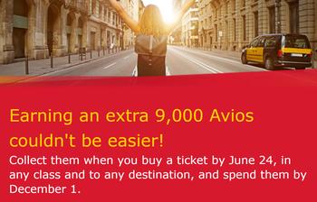 Iberia 90000 Avios promotion