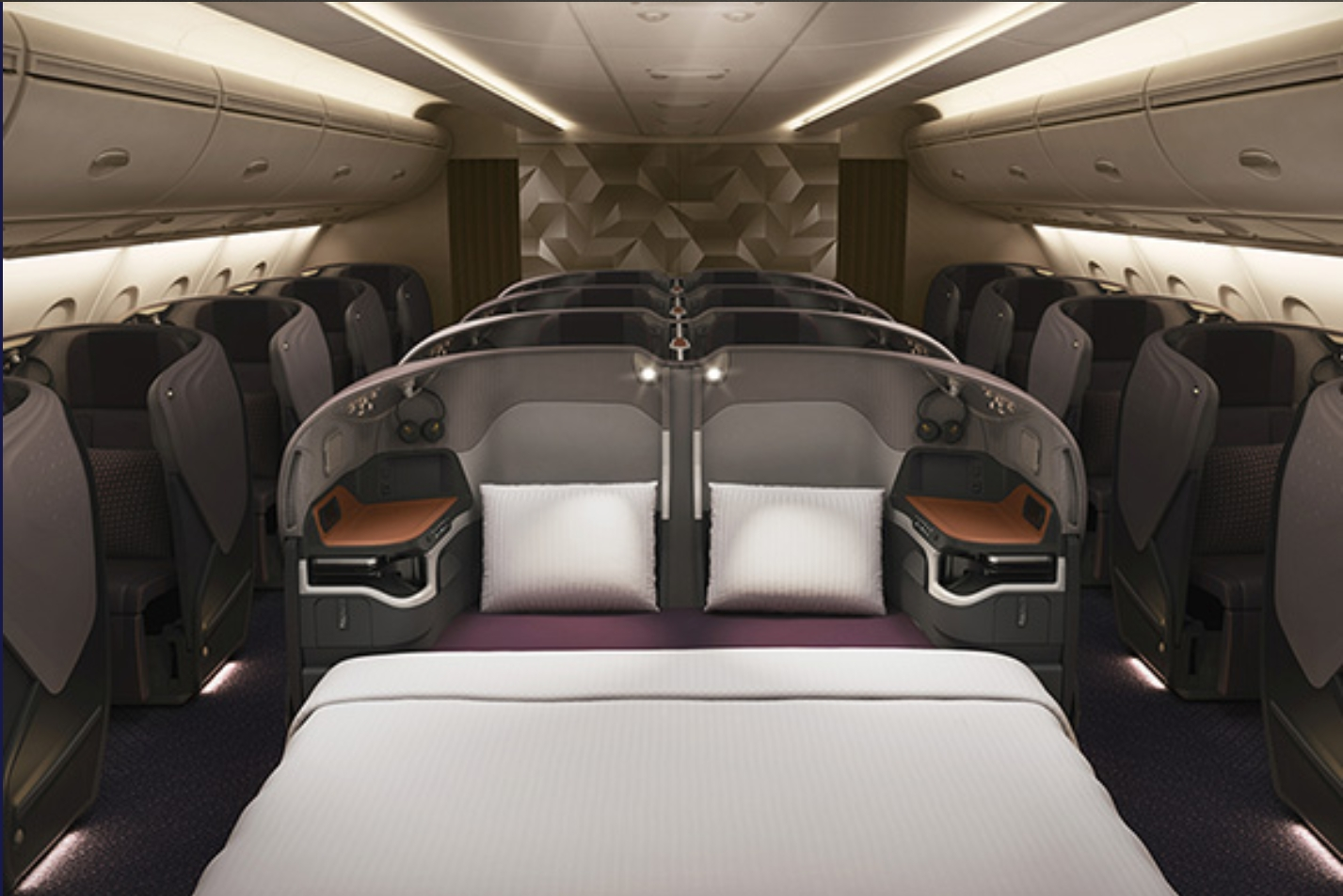 singapore airlines business double bed