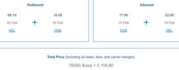 Finnair to Dubai with Avios