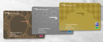 New British Airways Executive Club membership cards