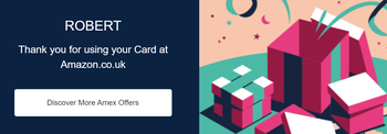 Amazon American Express cashback deal