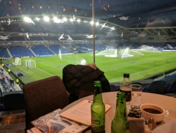 Amex lounge at a Brighton & Hove Albion FC Premier League game