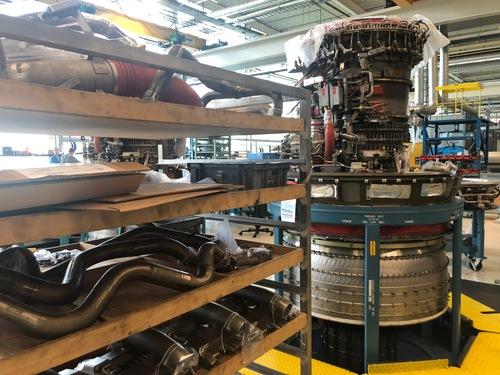 KLM Engine Services tour