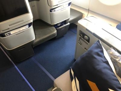 Lufthansa A340 business class review New York to Munich