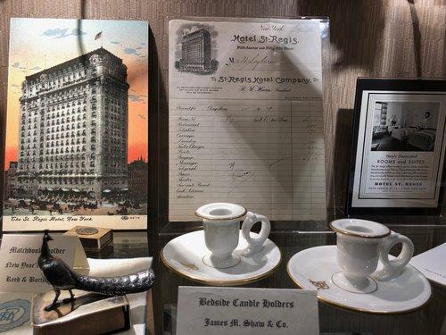 St Regis New York memorabilia
