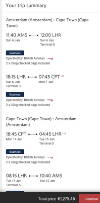 British Airways deal to Cape Town