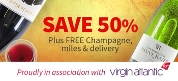 3000 Virgin Flying Club miles with Virgin Wines