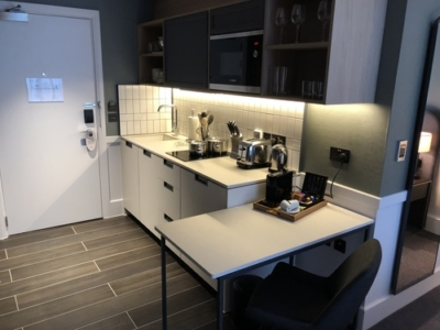 Staybridge Suites Manchester Oxford Road studio kitchen review