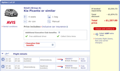 BA sale deal to Johannesburg