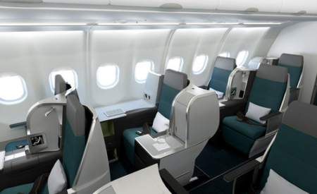 Aer Lingus A321LR business class cabin