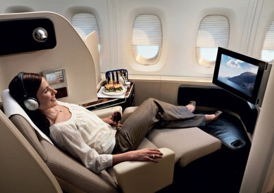 Qantas A380 refurbished first class seat