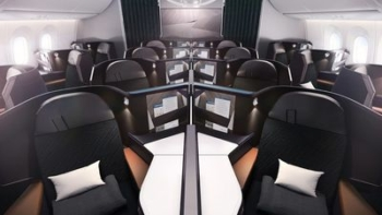 WestJet Boeing 787 flat bed business class London Gatwick Calgary