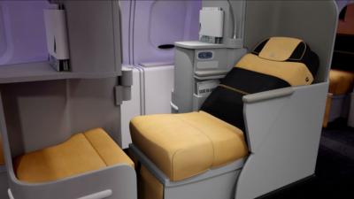 Alitalia A330 business class seat