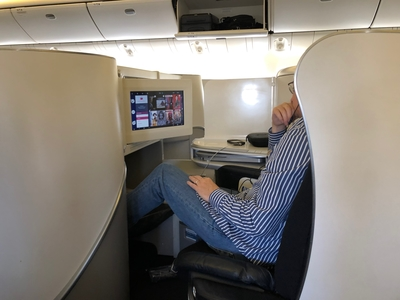 Air France business class review Boeing 777-300