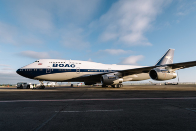 British Airways 747 in BOAC livery