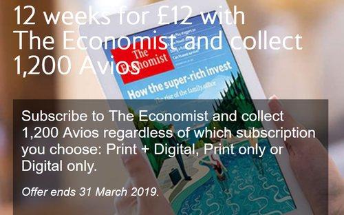 Economist Avios offer