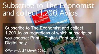 New Economist Avios offer