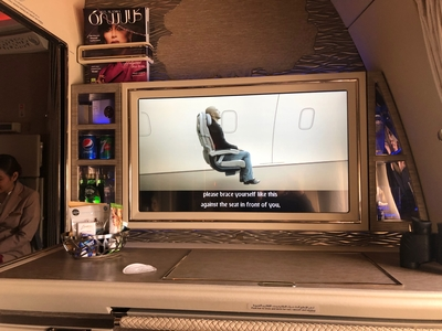 Emirates First Class Suite Boeing 777-300ER food and drink review