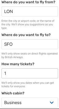 Reward Flight Finder
