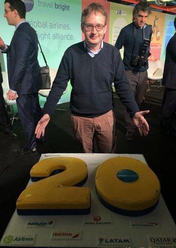 oneworld birthday cake