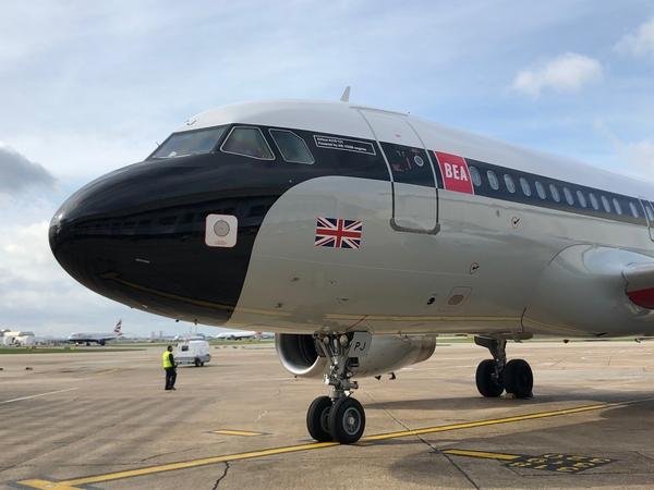 British Airways BEA livery repaint launch