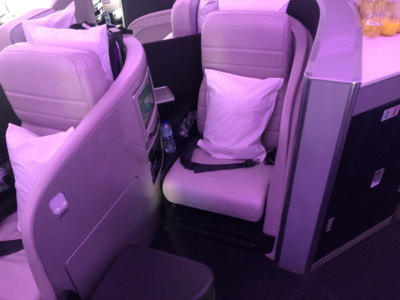 Air New Zealand business class seat