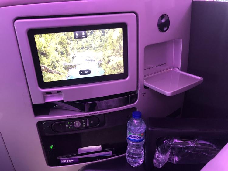 Air New Zealand business class seat