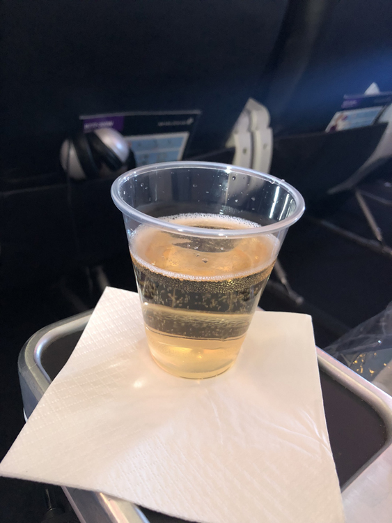 Air New Zealand sparkling wine premium economy