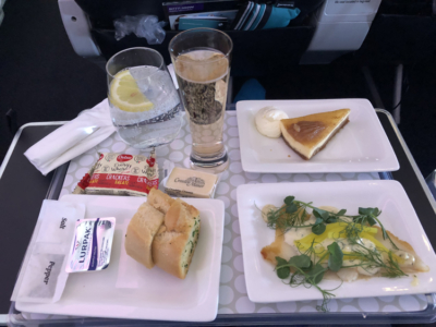 Air New Zealand premium economy meal review