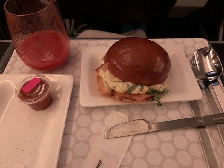 Air New Zealand premium economy second meal review
