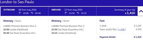 LATAM sale to Sao Paolo