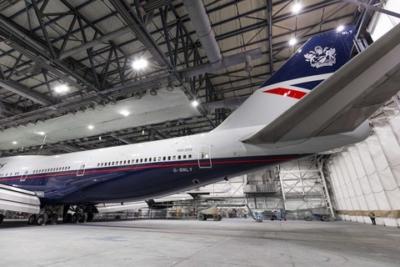 British Airways boeing 747 Landor livery
