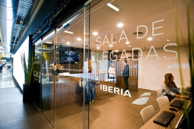 Iberia arrivals lounge in Madrid Terminal 4