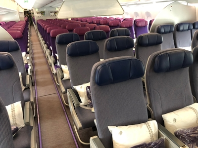 Malaysia Airlines A350 economy class