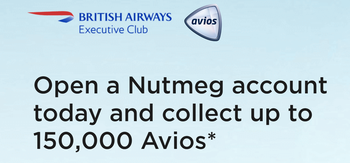 Nutmeg Avios offer