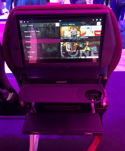 New Qatar Airways economy seat