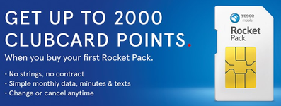 Get 2,000 Tesco Clubcard points with Tesco Mobile!