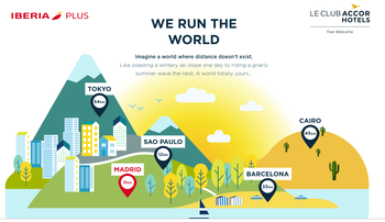 Accor Avios Run The World promotion