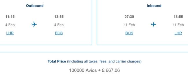 BA reward pricing
