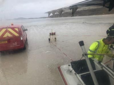 Landing on Barra beach on Loganair