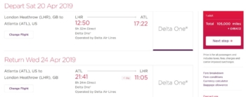 Virgin Atlantic increases miles taxes