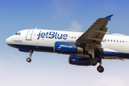 JetBlue food drink wifi London Heathrow New York Boston