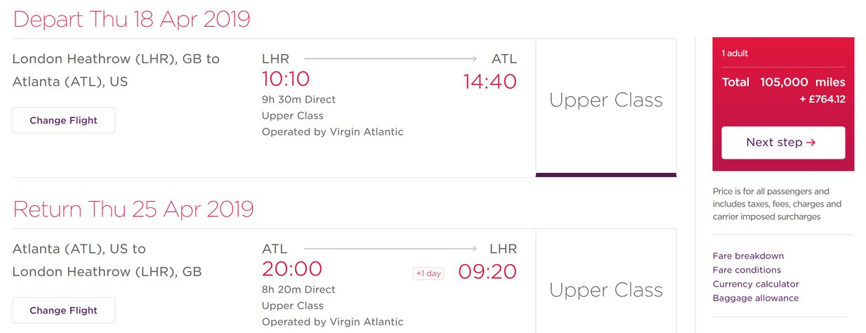 Virgin Atlantic has added £200 to USA fuel surcharges