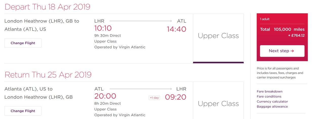 Virgin Atlantic increases tax sharply